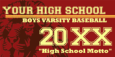 Boys Varsity Baseball Generic