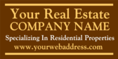 Generic Real Estate Company Specializing in Reside