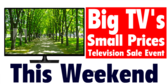 Television Sale Event This Weekend
