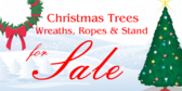 Christmas Trees, Wreaths Sale