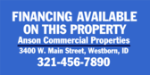 Financing Available On This Property