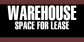 Warehouse For Lease Real Estate
