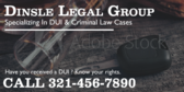 Specializing In DUI  Criminal Law Cases