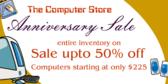 Computer Store Anniversary Sale