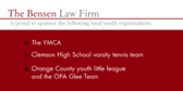 Law Firm Is Proud to Sponsor High School Team