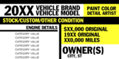 Vehicle Owner Information
