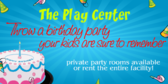 Play Center Birthday Party