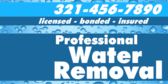 Professional Water Removal