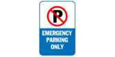 Emergency parking only