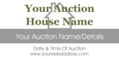 real estate auction signs