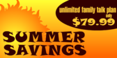 Summer Savings Familiy Talk Plan