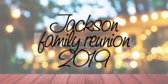 Family Reunion Your Message