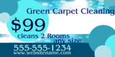 $99 Cleans 2 Rooms