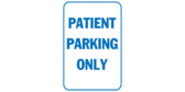 Patient Parking Only Blue