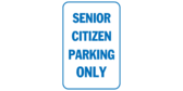 Senior citizen parking only