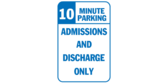 Admissions and Discharge 10 Minute Parking