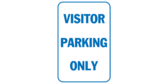 Visitor Parking Only Blue