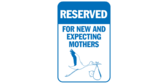 Reserved Parking for Expecting and New Moms Stork
