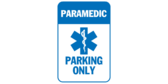 Paramedic parking only