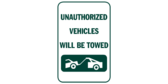 Unauthorized Vehicles Will Be Towed with Icon