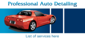 Professional Auto Detailing List Of Services