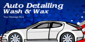 Auto Detailing  Wash and  Wax Message