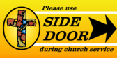 church service yard sign template