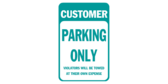 Customer Parking Only Green