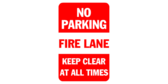 No Parking Fire Lane Red & White Band