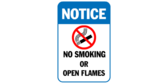 Notice No Smoking Or Open Flames