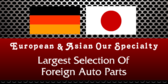 Largest Selection Of Foreign Auto Parts