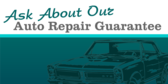 Ask About Our Auto Repair Guarantee