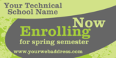 Generic Technical School Enrolling for Spring