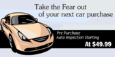 Pre Purchase Auto Inspection No Fear