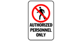 Authorized Personnel Only Verboten