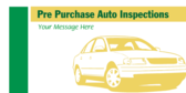 Pre Purchase Auto Inspections Message