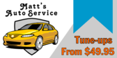 auto part repair we service all makes signs