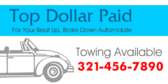 Top Dollar Paid For Your Automobile