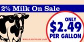 Milk Sale