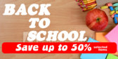 Back to School Sale Blue