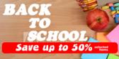 Back to School Sale Blue