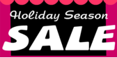 Holiday Season Sale with Pink Drapes