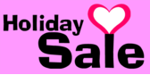 Holiday Sale with Hearts