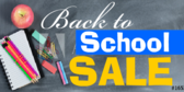 Back to School Sale Frame