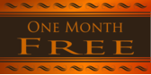 One Month Free Orange Brown