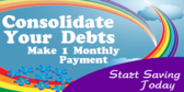 Consilidate Your Debt, One Monthly Payment