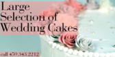 Large Selection Of Wedding Cakes