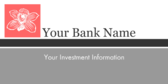 Bank Name Investment Information