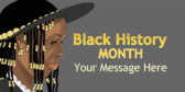 Black History Month Message