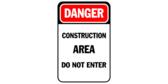 do not enter construction area